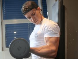 muscle tee white