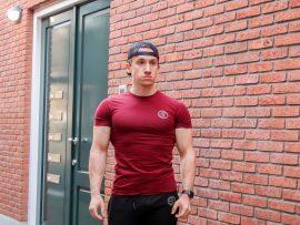 gf muscle fit shirt burgundy