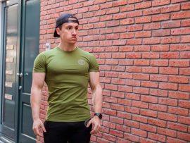 gf muscle shirt green
