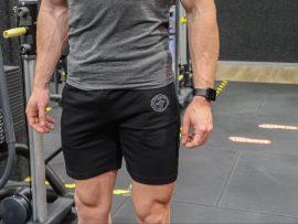 gf muscle fit short black